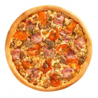Пицца со свининой и вялеными помидорами